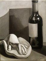 Still Life with plaster hand by 7AirGoddess3