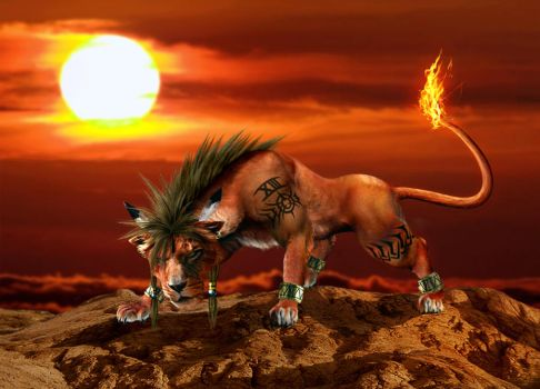 Red XIII by ScorpionDeathlock