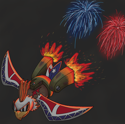 Fireworks Eagle by elementhedgehog