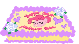 Pinkie Pie's Birthday Cake - Vector by H2oOctane