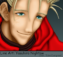 Trigun: Vash, Smiling Gently by EdenEvergreen