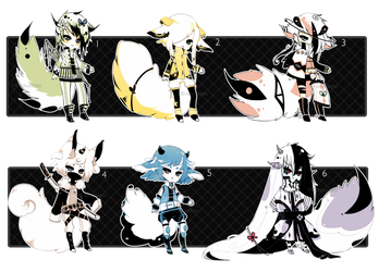 [CLOSED] ADOPT 34 - Enigma Species by Piffi-sisters