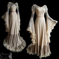 art nouveau inspired gown ghostly dreamy by SomniaRomantica