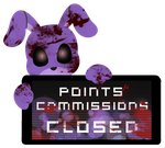 Bonnie Point Commission Closed Stamp by InkCartoon