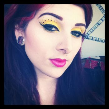 I still don't think I can wear yellow... by itashleys-makeup