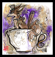 A lovely cup of fox? by IceandSnow