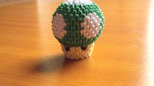 3D origami Mini 1up mushroom by Girnelis