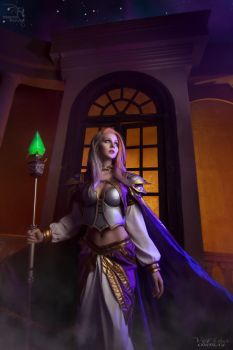Jaina Proudmoore -  Grand Magus of the Kirin Tor by ver1sa