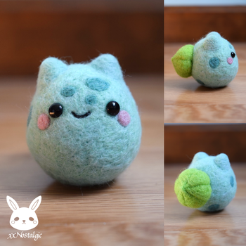 Felted Bulbasaur by xxNostalgic