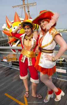 Nami and Luffy by Fall3nW1ngs
