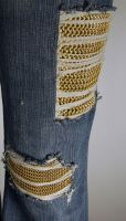 Chainmail-Patched Jeans left by xMeisianx
