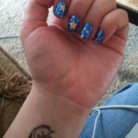 Nail Rock Blue and Gold Stars by notannounced