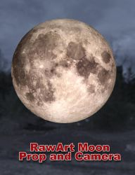 Iray Moon Prop and Camera (for DAZ Studio) by RawArt3d