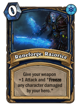 Hearthstone card concept - Runeforge: Razorice by SnowingGnat