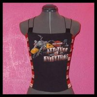 Harley Davidson Corset Top by crafterbynite