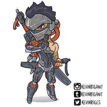 Blackwatch Genji Overwatch Insurrection by KevinRaganit