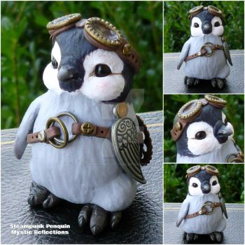 Baby Steampunk Penguin by MysticReflections