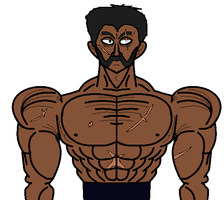 muscular guy by YpodkaaaY