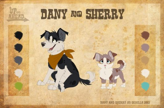 Dany and Sherry - Character Sheet by Skailla