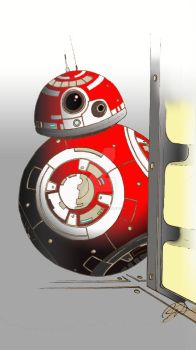 B-X droid red and white by MandoKnight84