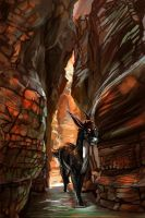 Through the Canyon by AmadoodlesARPG