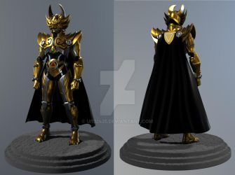 3d garo anime type full body about leon by ui132435
