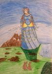 Drawing: Colossal Staris Takes A Stroll! by kjl03