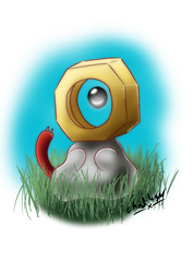 Nuts about Meltan by GhostLiger