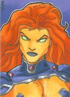 Starfire card by DKHindelang