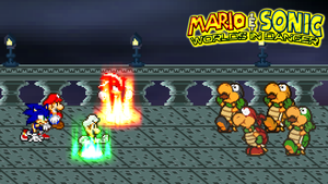 Fire Luigi and Chaos Shadow vs. Koopa Bros. by jmkrebs30