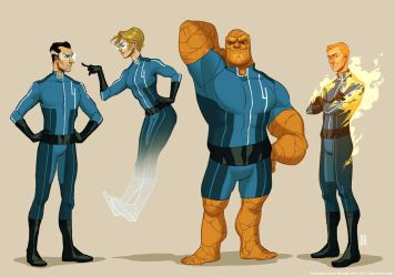 Project Rooftop: Fantastic Four by shoomlah