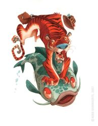 Fishin' Tiger by RobbVision
