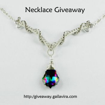 Sterling Silver and Swarovski Crystal Necklace by Gailavira