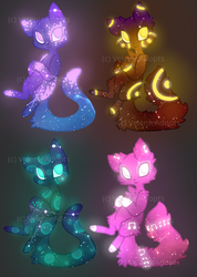 [OPEN] Galaxy Cats 60 points by VelenieAdopts