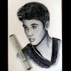 Justin Bieber Painting by Cathy86