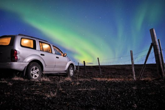 Car by the Northern Lights by xo-lexus-ox