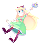 Star Butterfly by Sonikku-Star