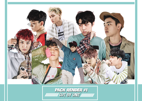 EXO Lucky One PNG Pack by TrangOniT