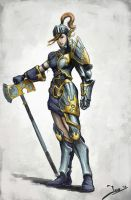 Female Paladin 2 by Robjenx