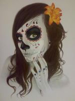 day of the dead self portrait by sarahxboston