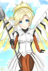Mercy from Overwatch by HaruBlossom