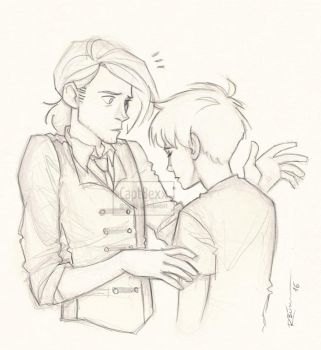 Draco and Scorpius by CaptBexx