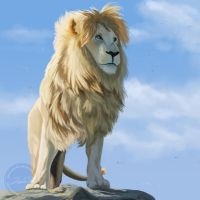 White Lion - Speedpainting by SabrinaDeets