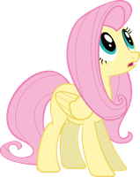 Fluttershy Stargazing (Vector) by DatBrass
