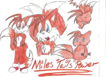 Miles 'Tails' Power by KrystalOokamiInu