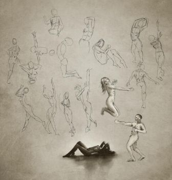 Daily practice 01 22 2014, Figures by Eclectixx