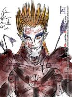 Demon Kogure -After-Battle : Color by GraphicAnime