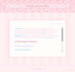 UPDATED Pink Journal Skin Commission for Motaii by Sleepy-Stardust