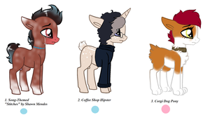 Themed Adopts Set 1 (open 2-3) by Corvus-Shadow