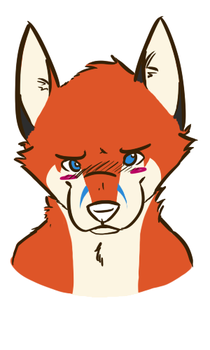 Blushy Fox by tealfoxy